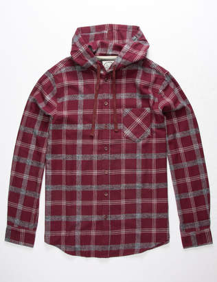 Birch Black Cooper Mens Hooded Flannel Shirt