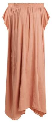 Loup Charmant Hydra Off The Shoulder Organic Cotton Dress - Womens - Pink