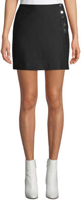 BA&SH Peach Button-Front Short Skirt
