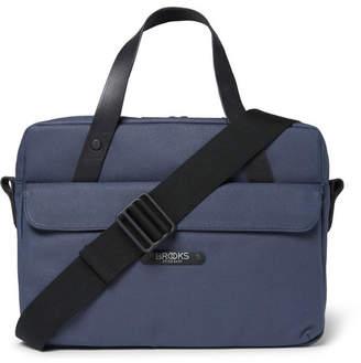 Brooks England Lexington Coated-Canvas Briefcase