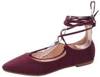 Mila Louise Lady IRMA Fashion New Lace up Point Toe Flat Shoes.