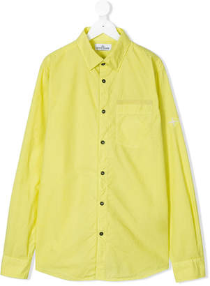 Stone Island Junior TEEN cutaway collar shirt