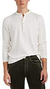 Massimo Alba Men's Cotton-Cashmere Henley - White