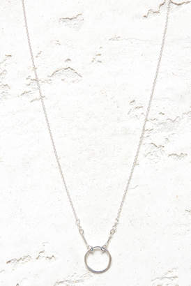 Dogeared Silver Karma Necklace Silver
