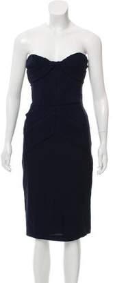 Burberry Strapless Knee-Length Dress