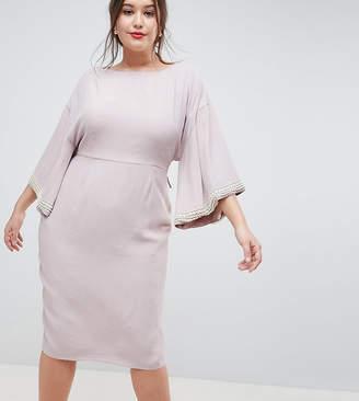 90e3e3e72c Asos DESIGN Curve kimono midi with pearl trim