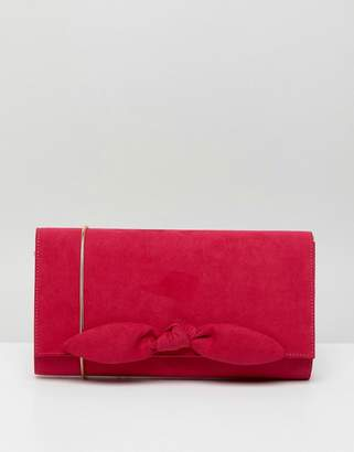 Miss KG Suedette Small Bow Clutch