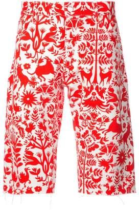 Holiday animal print shorts