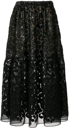 Stella McCartney textured sheer skirt