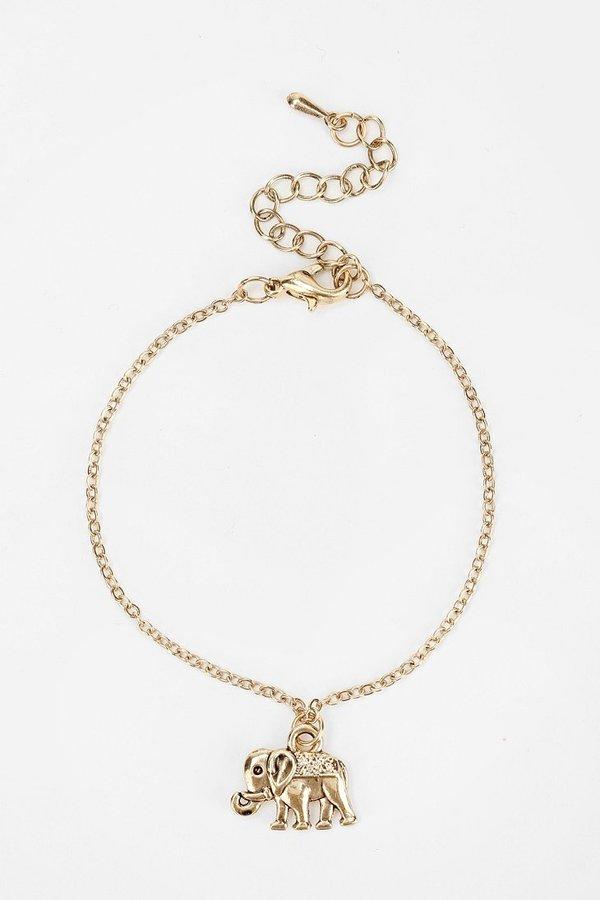 Urban Outfitters Elephant Chain Bracelet