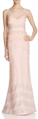 Adrianna Papell V-Neck Layered Ombré Gown $299 thestylecure.com