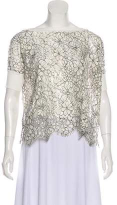 Valentino Lace Short Sleeve Top