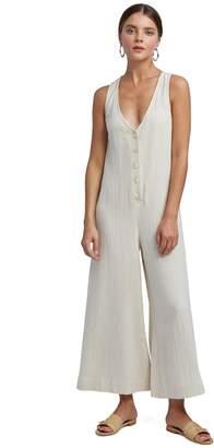 Rachel Pally Linen Button Front Jumpsuit - Natural