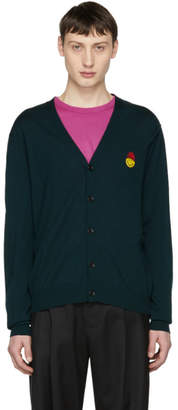Ami Alexandre Mattiussi Green Limited Edition SMILEY Edition Merino Cardigan