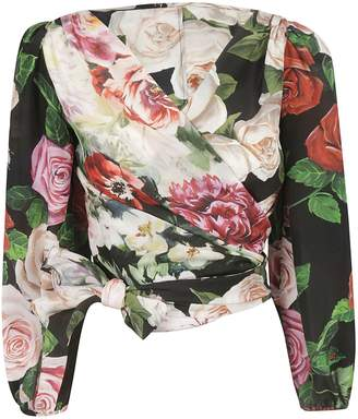 95c685ec0c Dolce   Gabbana Rose Print Blouse