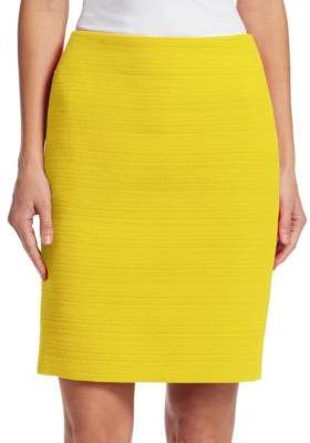 Akris Woven Pencil Skirt