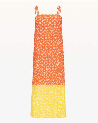Juicy Couture Ditsy Daisy Block Pleated Dress