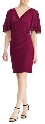 Lauren Ralph Lauren Petite Jersey Flutter-Sleeve Dress