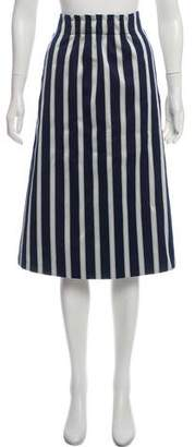 St. Emile Striped Knee-Length Skirt w/ Tags