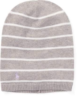 Ralph Lauren Striped Cashmere-Blend Hat
