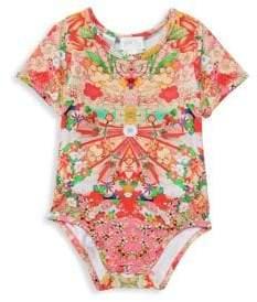 Camilla Baby Girl's Short-Sleeve Floral Bodysuit