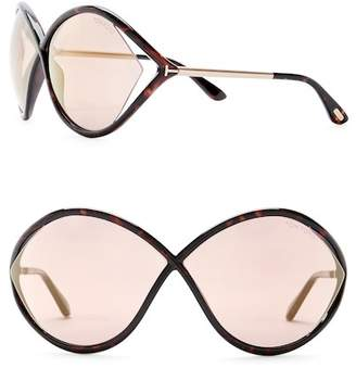 Tom Ford Injected 55mm Oversized Sunglasses