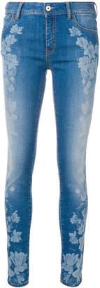Just Cavalli floral print skinny jeans