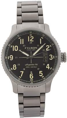 Filson 10000304 Men's Mackinaw Field Gunmetal IP Steel Dive Watch