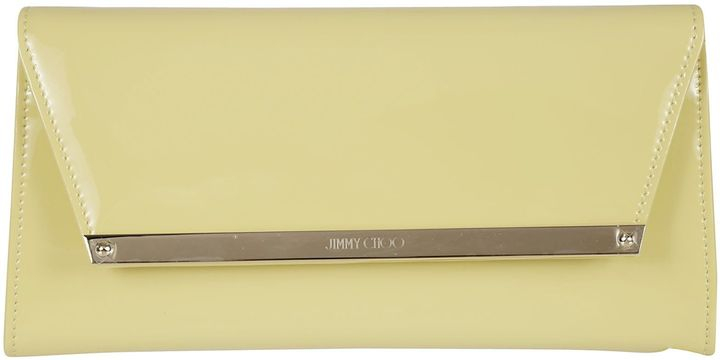 Jimmy Choo Jimmy Choo Margot Yellow Patent And Suede Clutch Bag
