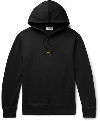 Helmut Lang Taxi London Logo-Print Loopback Cotton-Jersey Hoodie