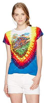 Liquid Blue Women's Grateful Dead Summer Tour Bus Juniorsgraphic Tee