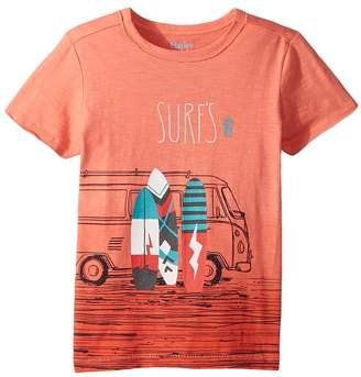 Hatley Surf's Up Coral Ombre Tee Boy's T Shirt