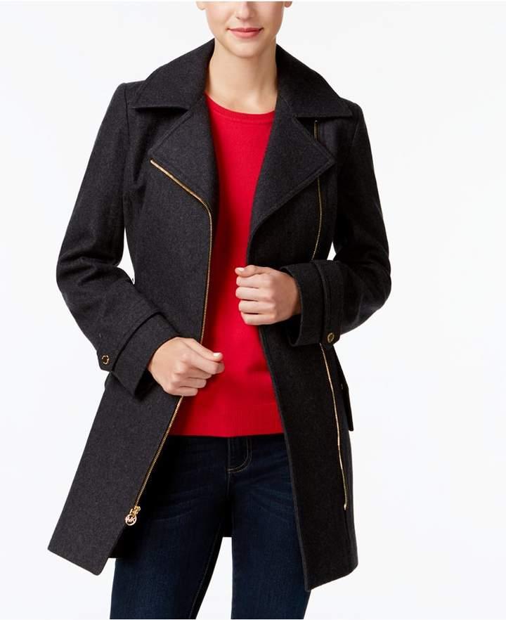 MICHAEL Michael Kors Asymmetrical Walker Coat