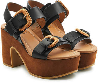 See by Chloe Platform Sandals in Leather and Suede