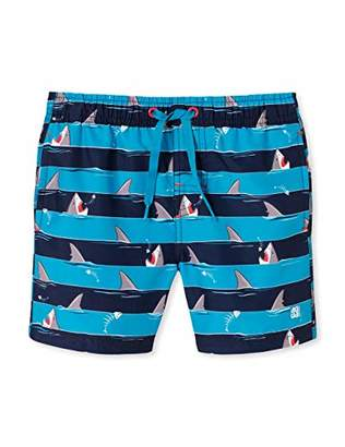 Schiesser Boy's Shark Fever Swimshorts Swim Shorts,(Size: 0)