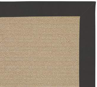 Pottery Barn Capel®; Glennbrook Natural Rug With Sunbrella® Charcoal Trim