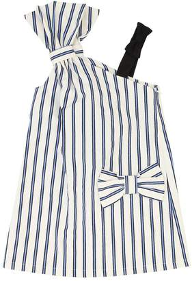Striped Cotton Dress W/ Bow