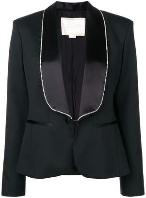 Redemption crystal embellished lapel and cuffs blazer