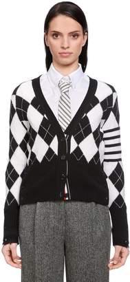 Thom Browne Argyle Wool Knit Cardigan