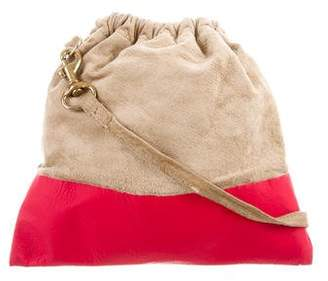 Clare Vivier Suede Petit Henri Crossbody Bag