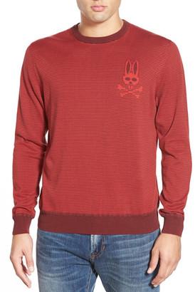 Psycho Bunny &SW146& Stripe Crewneck Sweater $195 thestylecure.com
