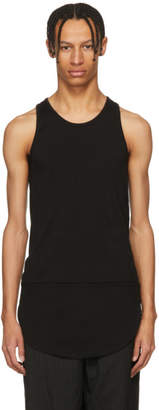 TAKAHIROMIYASHITA TheSoloist. Black Long Tail Tank Top