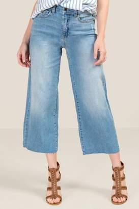 francesca's Taylor High Rise Wide Leg Cropped Jean - Lite