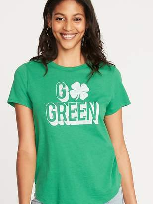 Old Navy EveryWear St. Patrick's Day Graphic Tee for Women