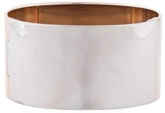 Christian Dior Two-Tone Logo Cuff