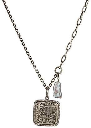 b653e92f880 Feathered Soul Men's Aztec Pendant Necklace - Silver