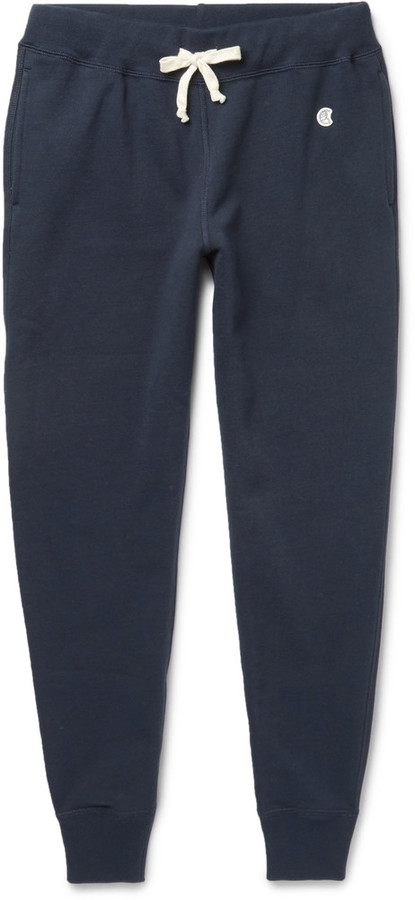 Todd Snyder + Champion Tapered Fleece-Back Cotton-Blend Jersey Sweatpants