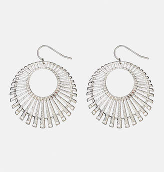 Avenue Textured Stick Circle Earrings