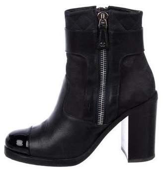 Chanel 2016 CC Cap-Toe Boots