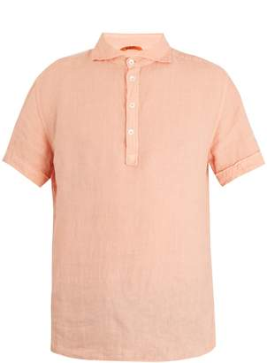 Barena VENEZIA Point-collar short-sleeved linen polo shirt